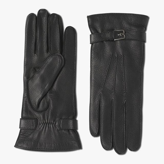 鹿皮手套, BLACK, hi-res