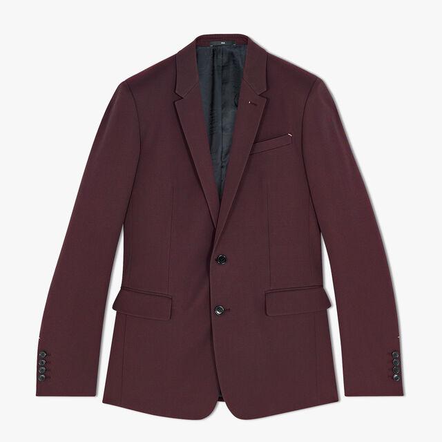 常规剪裁的Formal 羊毛衬里夹克, NERO BORDO, hi-res