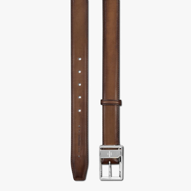 Hide Leather Belt , EARTH BROWN, hi-res