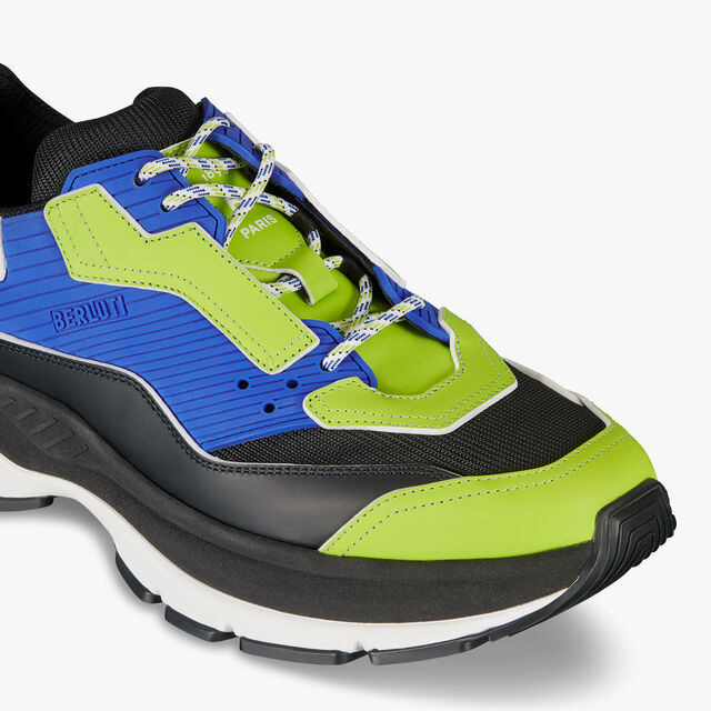 Gravity Leather Sneaker, LIME/BLUE, hi-res