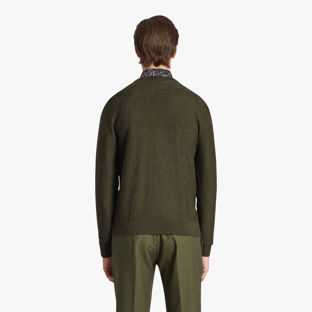 Pull En Laine Scritto, FOREST GREEN, hi-res