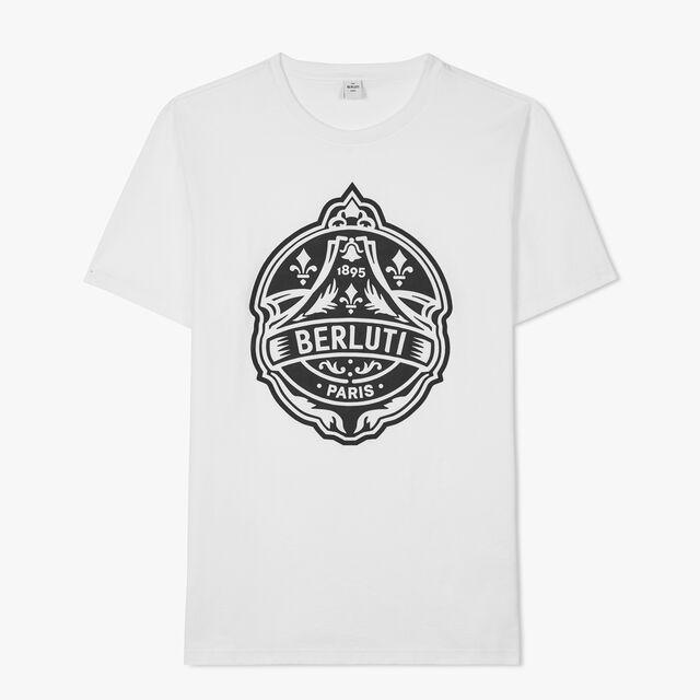 Embroidered Crest T-shirt, BLANC OPTIQUE, hi-res