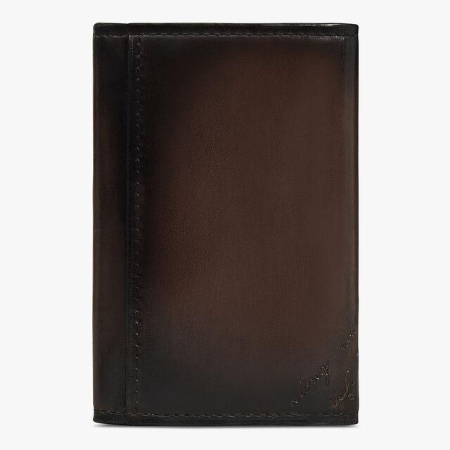 Iroko Scritto Leather Swipe Keyholder, ICE BLACK, hi-res