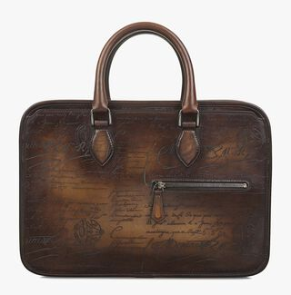 Un Jour Mini Leather Briefcase, TOBACCO BIS, hi-res