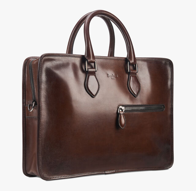 Un Jour Mini Leather Briefcase, MOGANO, hi-res