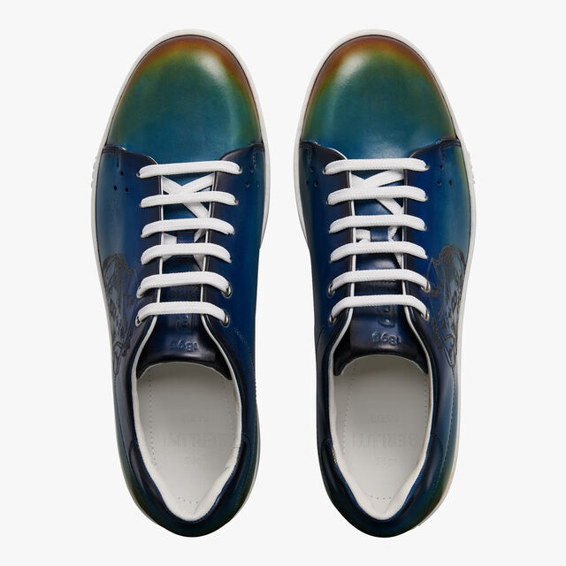 Playtime Crest Leather Sneaker, CLOUDY JUNGLE, hi-res