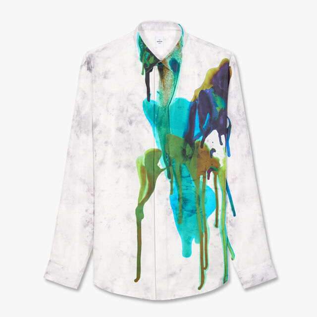 Graphic Printed Silk Shirt