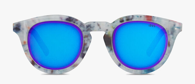 Halo Round Shape Acetate Sunglasses, MARBLE, hi-res
