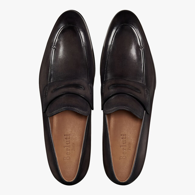 Gaspard Galet Calf Leather Loafer, DEEP BLACK, hi-res