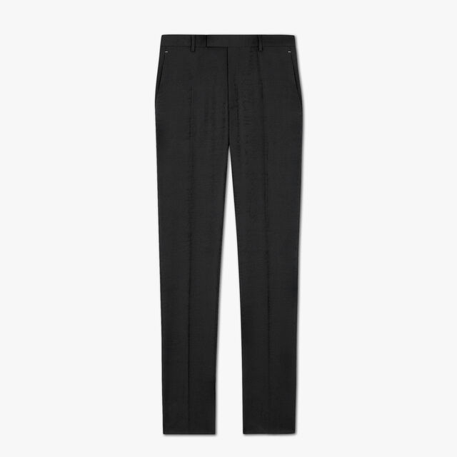 Formal Jacquard Scritto Virgin Wool Pants