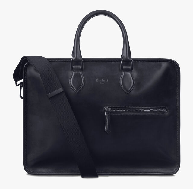 Un Jour Leather Briefcase, NERO, hi-res
