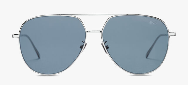 Glint Scritto Metal Sunglasses, SILVER + VINTAGE BLUE, hi-res