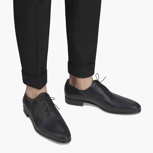 Alessandro Galet Calf Leather Oxford, NERO LUCIDO, hi-res