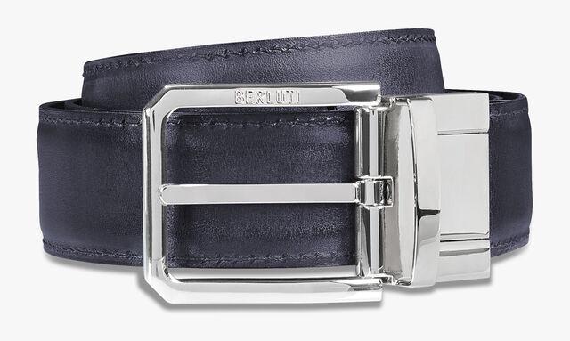 버서타일 스크리토 엠보싱 레더 35mm 벨트, BRUN & METEORITE, hi-res