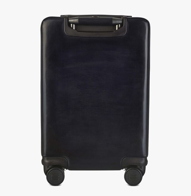 Formula 1004 Leather Rolling Suitcase, NERO GRIGIO, hi-res