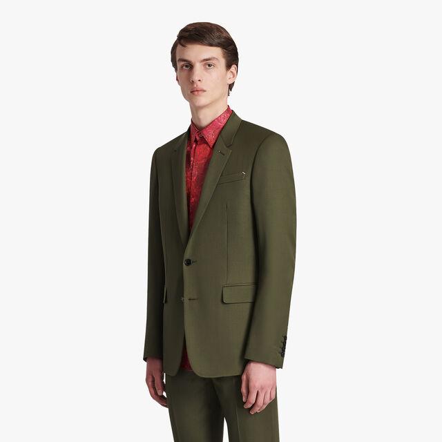 Regular Fit Wool Jacket, FOREST GREEN, hi-res
