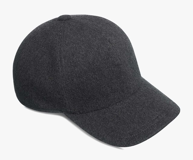 Cashmere & Calf Leather Hat, ANTHRACITE, hi-res
