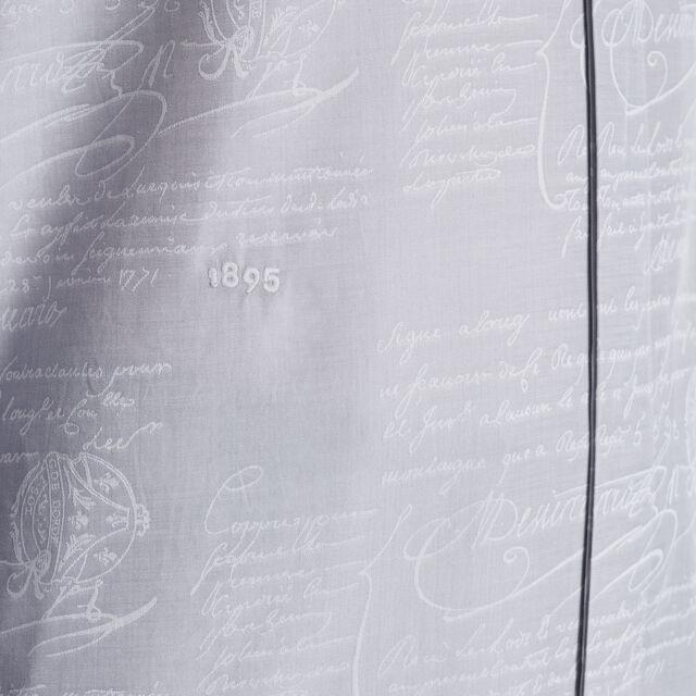 Chemise En Jacquard De Coton Scritto, ICE GREY, hi-res