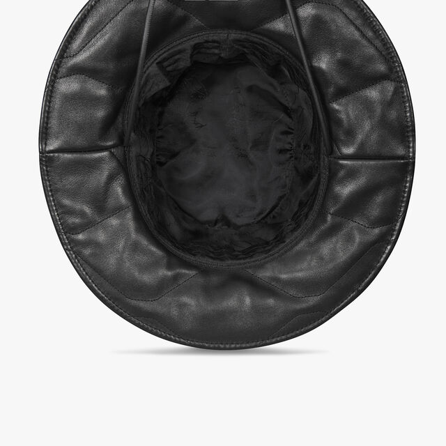 Quilted Leather Bucket Hat