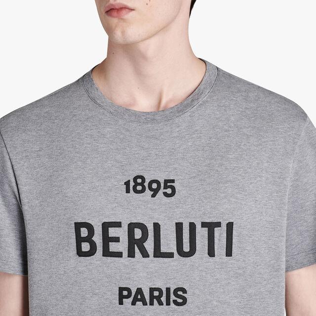 T-Shirt En Coton Avec Logo Brodé, LEAD, hi-res