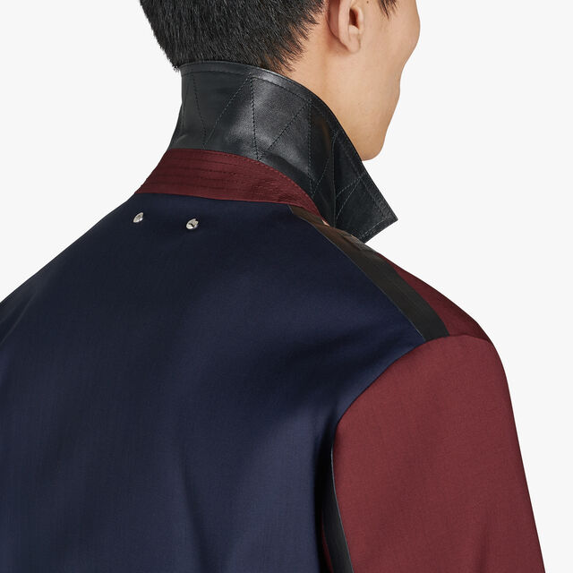Color Block Wool Blouson With Leather Details, CAOSNIGHT/RUBEDO, hi-res