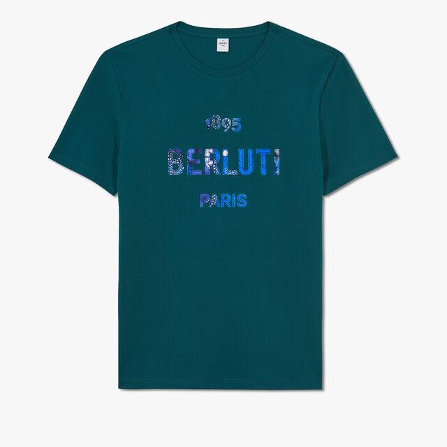 Printed & Embroidered Logo T-Shirt, ALPINE GREEN, hi-res