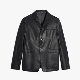 Calfskin Jacket, NOIR, hi-res