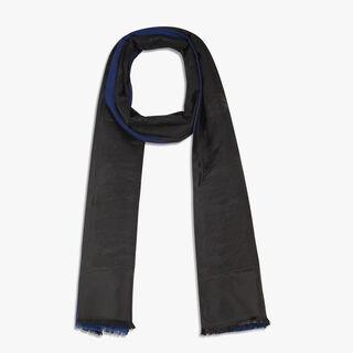 Silk & Cashmere Scarf, BLUE NAVY, hi-res