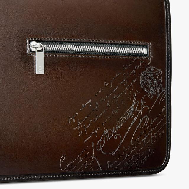 Everyday Leather Scritto Swipe Messenger, ICE BLACK, hi-res