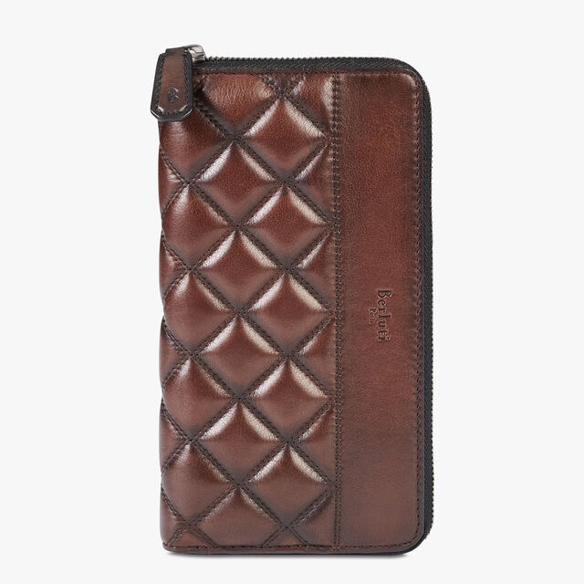 Itauba Off The Road Leather Long Zipped Wallet, BRUN, hi-res