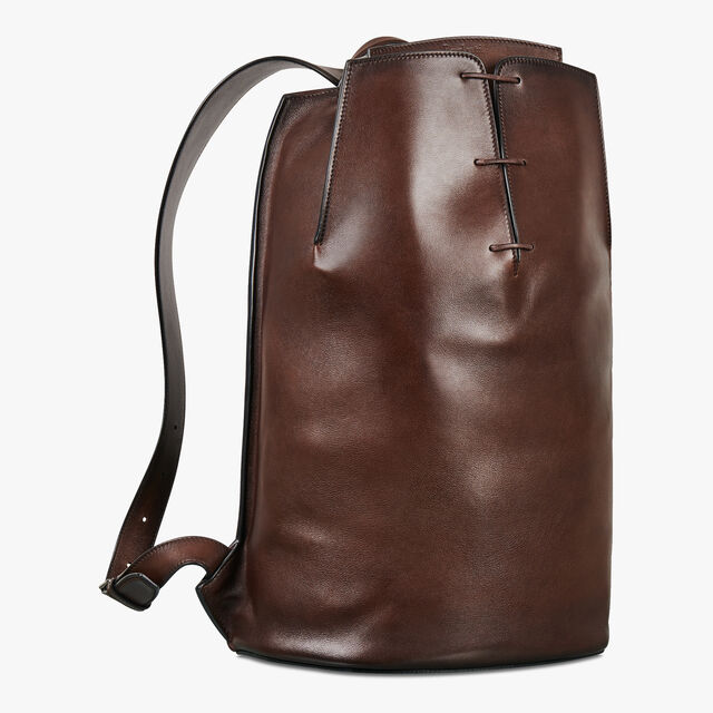 Alessandro Leather Backpack, BRUN, hi-res