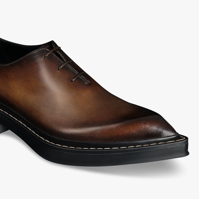 Hoxton Leather Oxford, EARTH BROWN, hi-res