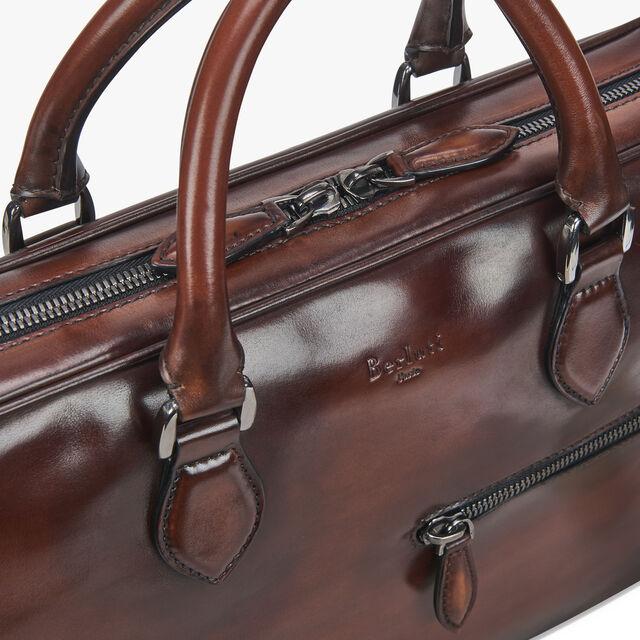 F007 Small Leather Briefcase, MOGANO, hi-res
