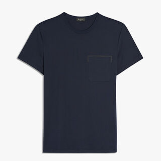 Cotton T-Shirt With Lamb Detail, BLUE NAVY, hi-res