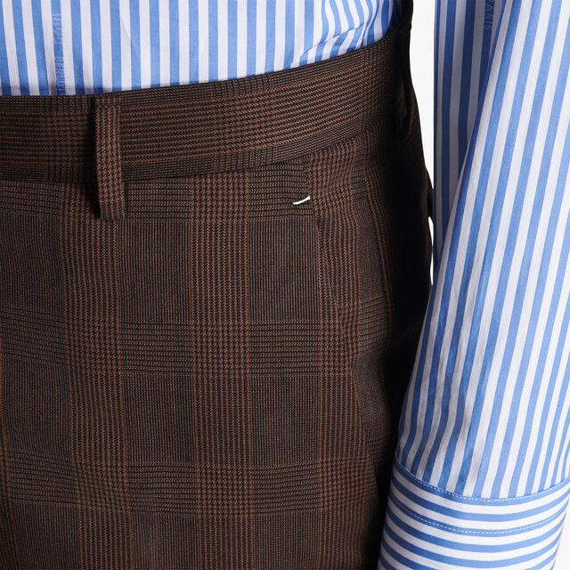 Alessandro威尔士亲王格纹长裤, BROWN GALLES, hi-res