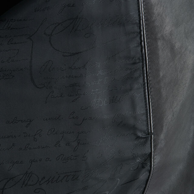 Patina Leather Blouson, NERO GRIGIO, hi-res
