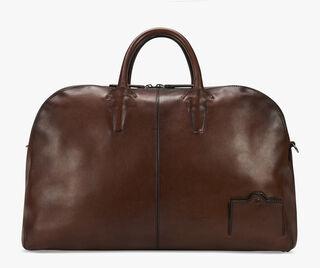 Bowling Large Leather Travel Bag, MOGANO, hi-res