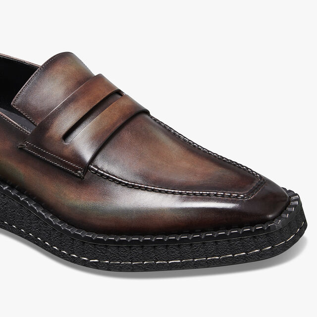 Andy Demesure Calf Leather Loafer, ICE BROWN, hi-res
