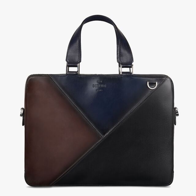 Profil 3 Small Leather Briefcase, DEEP ROTHKO+DEEP TDM+NERO, hi-res