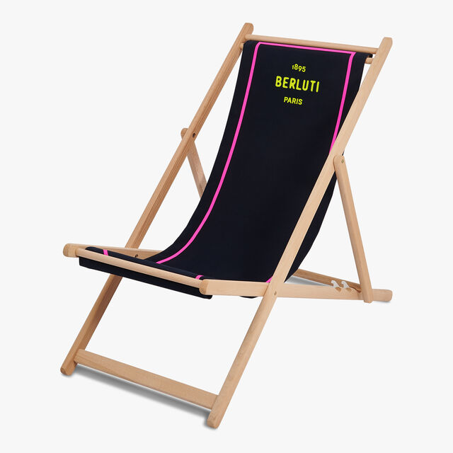 Embroidered Deck Chair, BRUN+YELLOW, hi-res