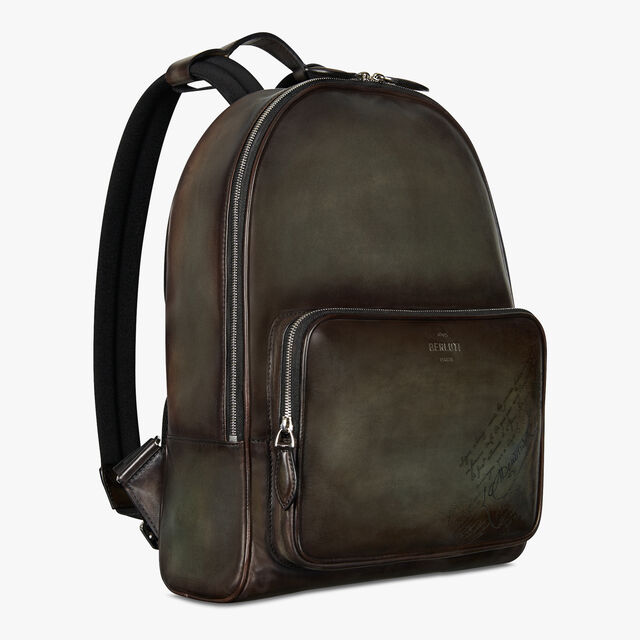 Time-Off Medium Scritto Leather Backpack, ICE BROWN, hi-res
