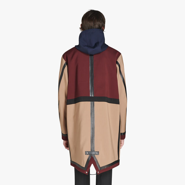 Color Block Wool Parka With Leather Details, CAMEL/NOIR, hi-res