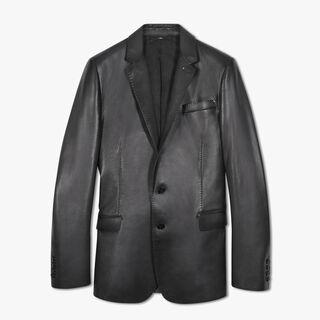 转色有衬里皮革夹克