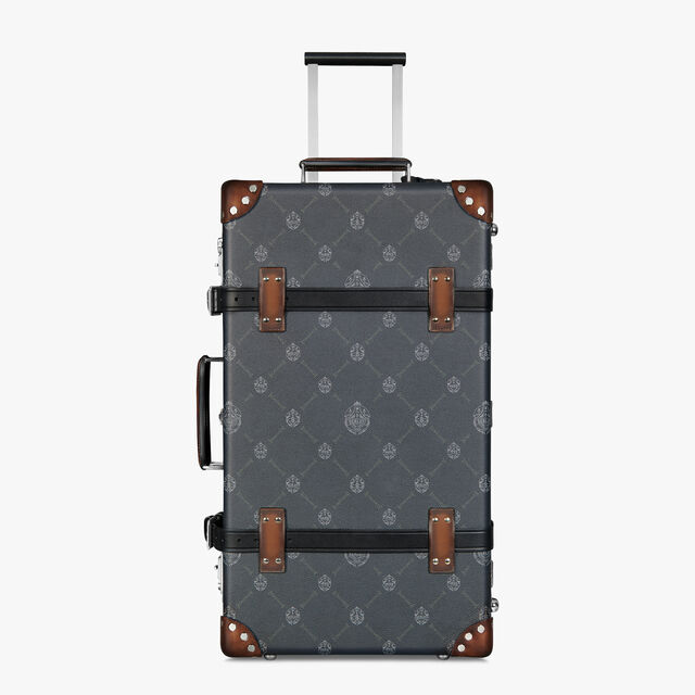 Globe-Trotter Luggage Canvas And Leather Rolling Suitcase, BLACK + TDM INTENSO, hi-res