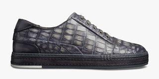 Playtime Palermo Alligator Leather Sneaker, LIGHT GREY, hi-res