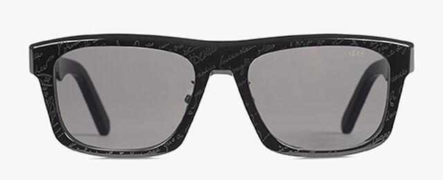 Neon 长方形醋酸纤维太阳眼镜, BLACK+SOLID SMOKE, hi-res