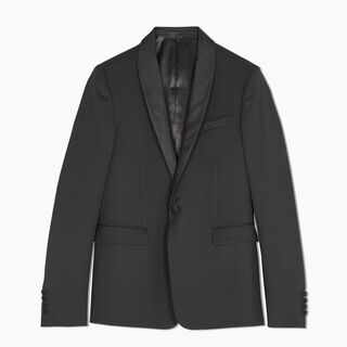 Alessandro Formal Wool Tuxedo Jacket With Scritto Shawl Collar