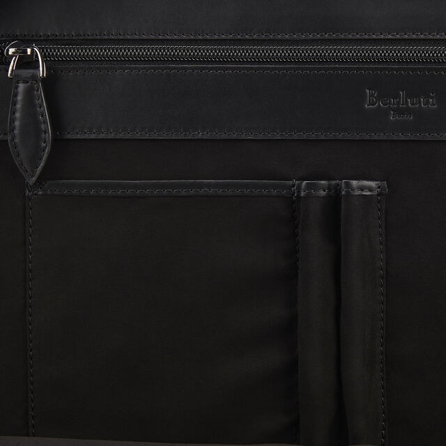 Porte-Documents Deux Jours en Cuir  , DEEP BLACK, hi-res