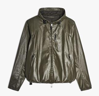 """B-Way"" Leather Jacket, KAKI, hi-res"