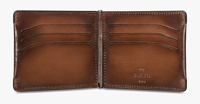 Figure Scritto Leather Wallet, MOGANO, hi-res